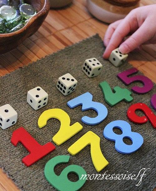 Цифры и кубики