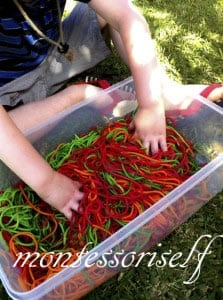 цвета для малышей с макаронами 9