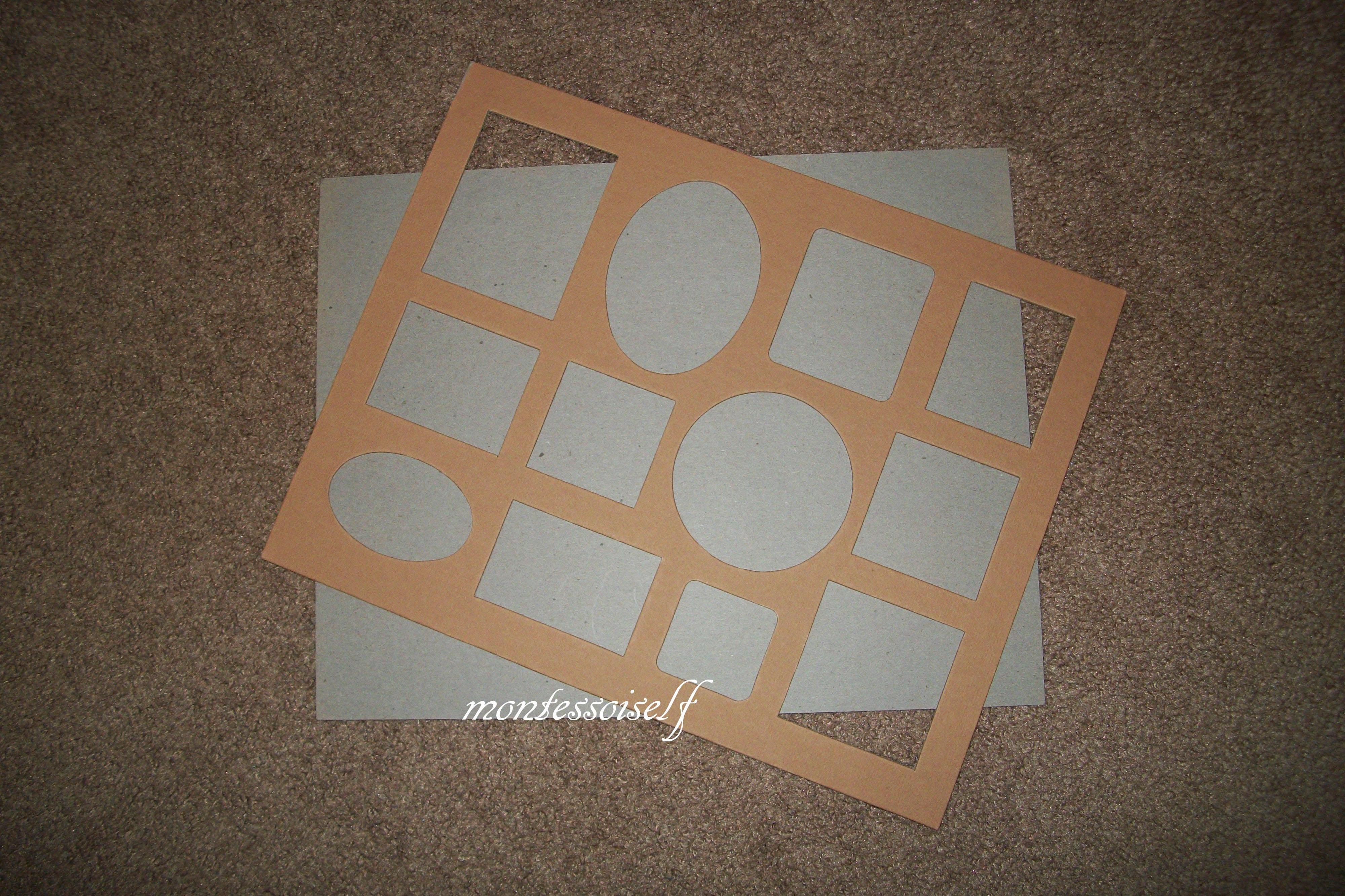 Вырезаем формы из картона