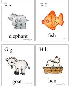английская буква e,f,g,h
