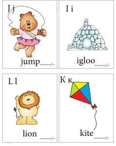 английская буква i,j,k,l