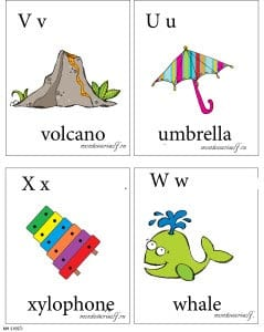 английская буква u,v,w,x