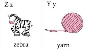 английская буква y,z