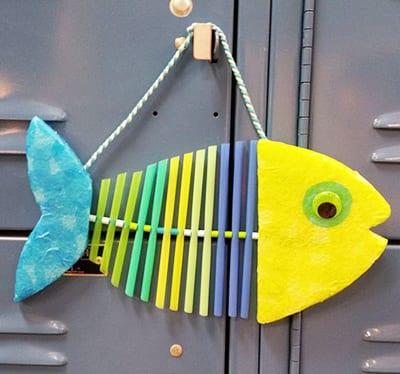 Рыба из трубочек