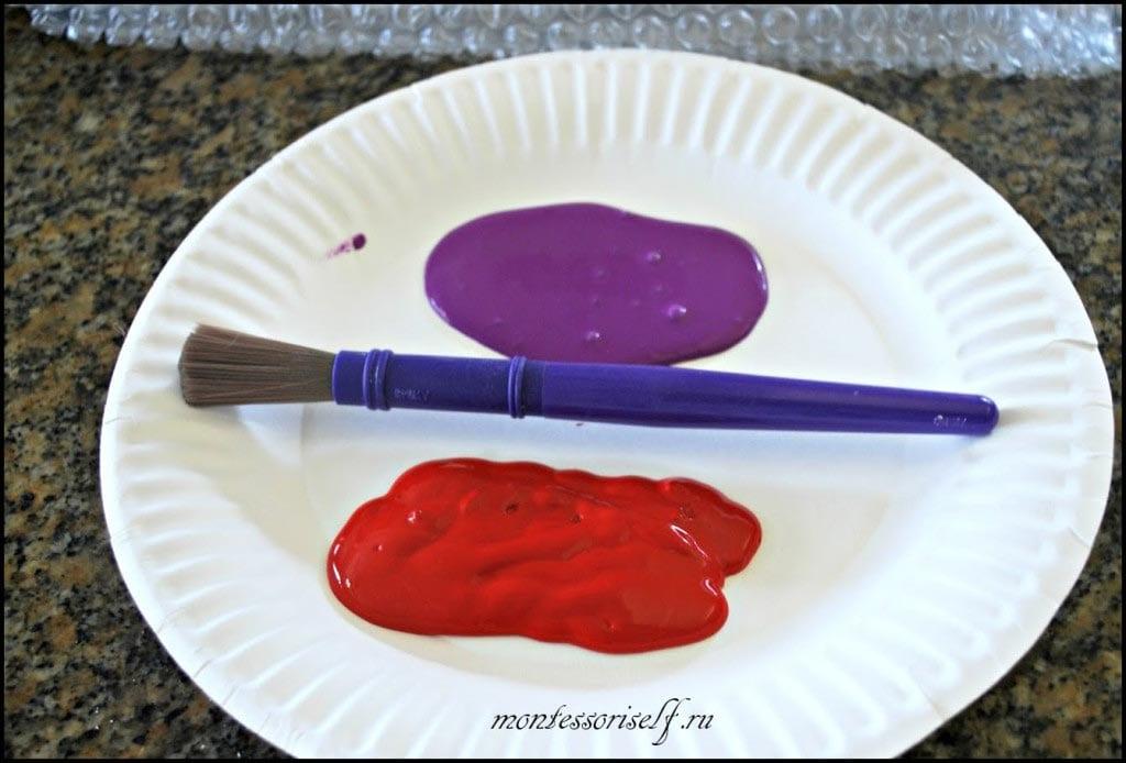 мы взяли для каждой ноги свою краску