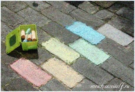 Рисуем цвета на кирпичиках