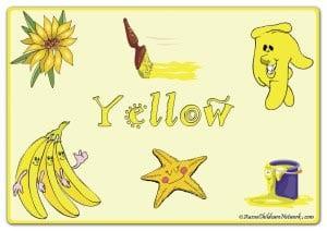 Желтый цвет на английском с картинками