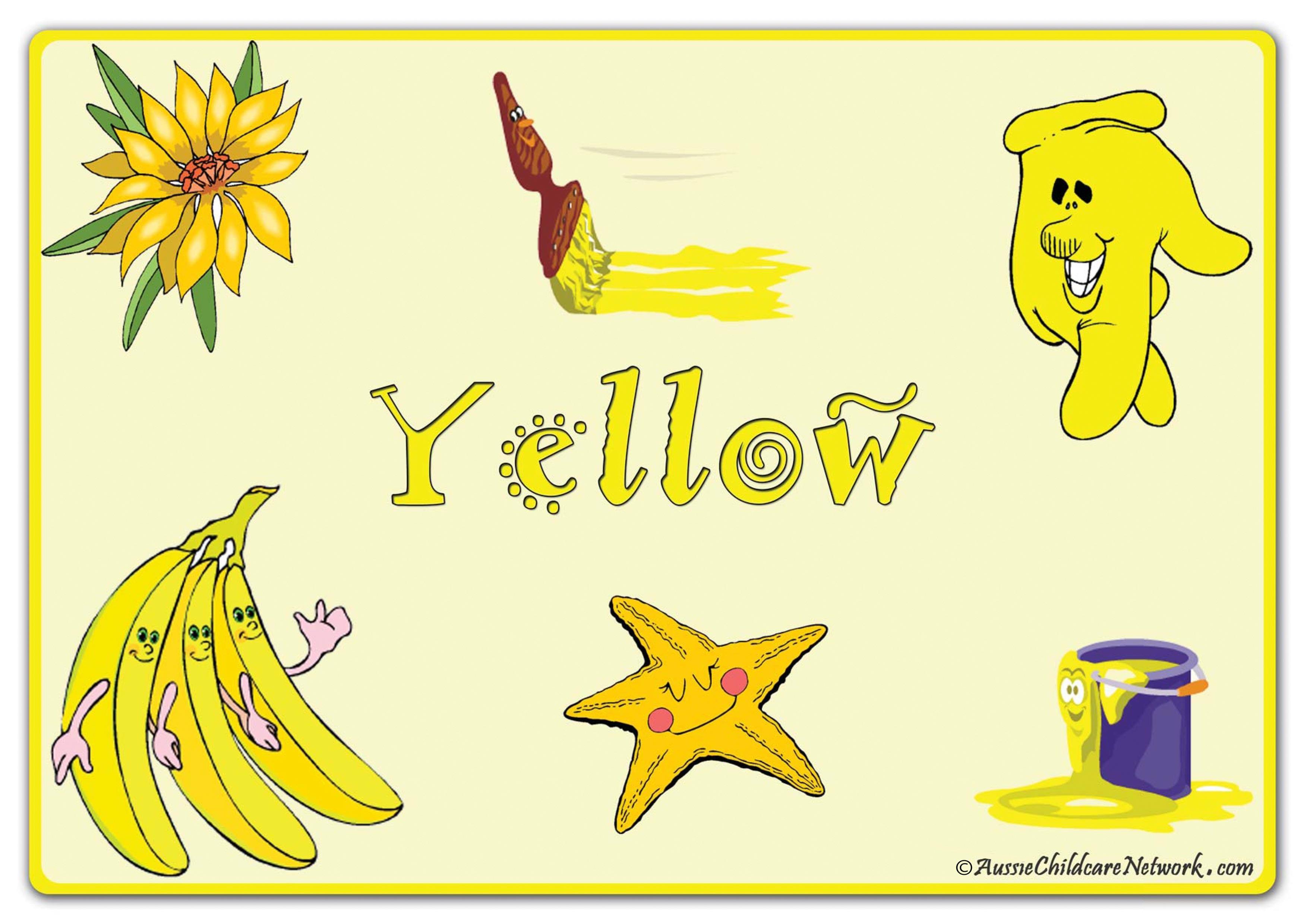 Цвет жёлтый на английском