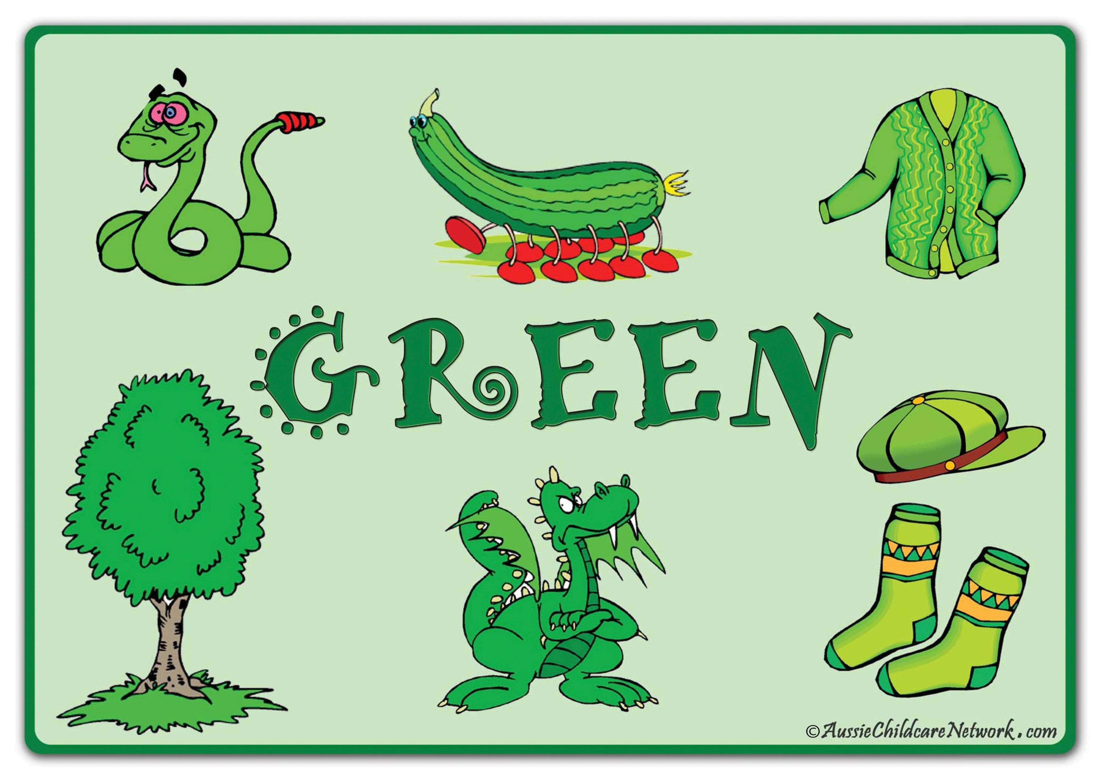 Цвет зеленый английский