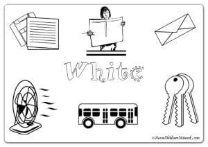 Белый цвет на английском с картинками