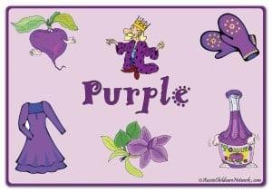 Фиолетовый цвет на английском с картинками