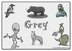 Серый цвет на английском с картинками