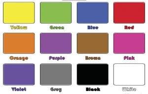 Карточки с цветами на английском