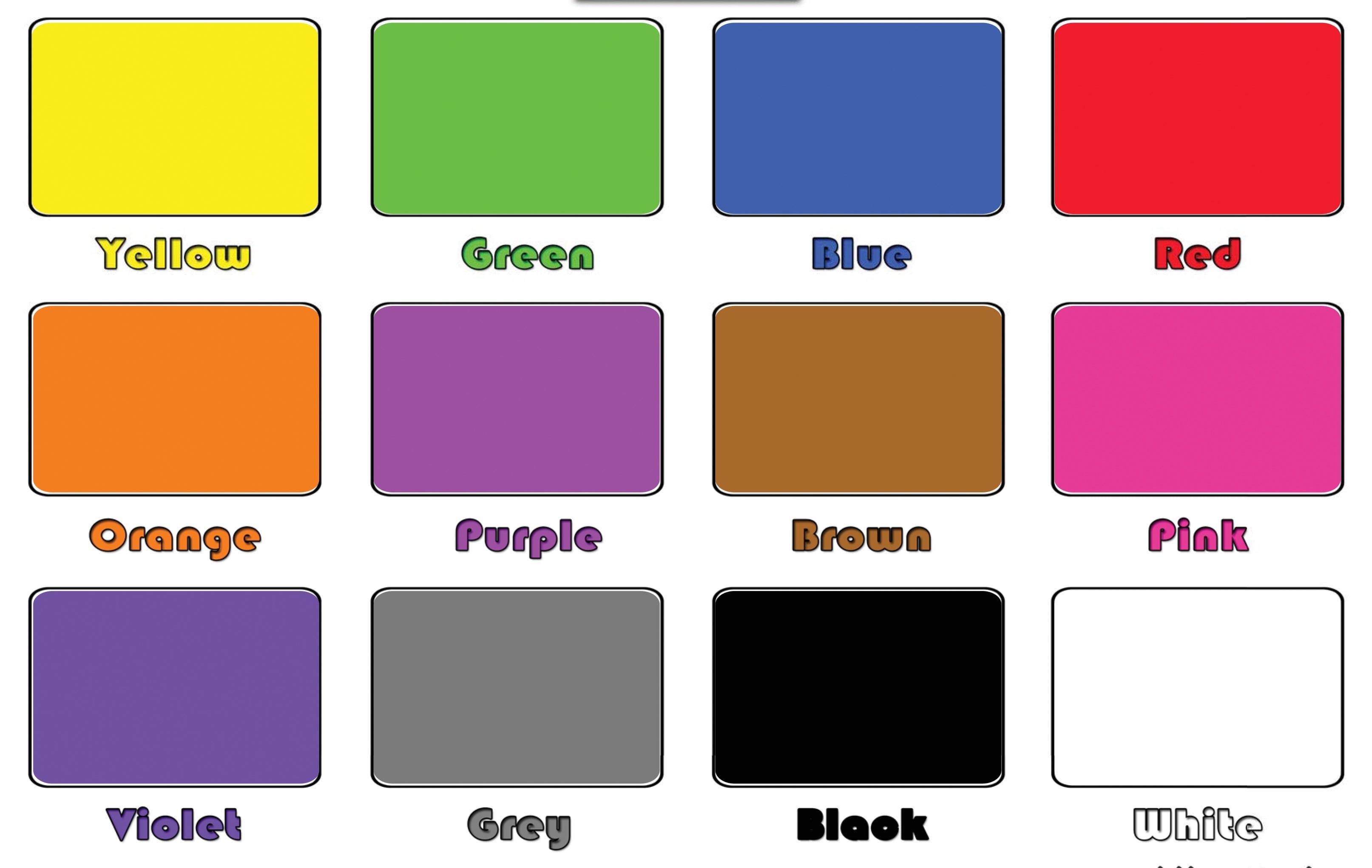 Карточки для детей цвета