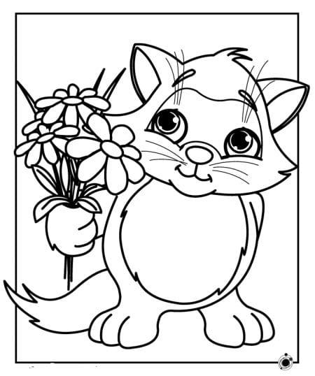 Раскраски для девочек кошечки