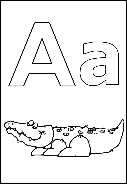Буква и в картинках раскраска