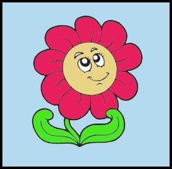 Картинка веселый цветок