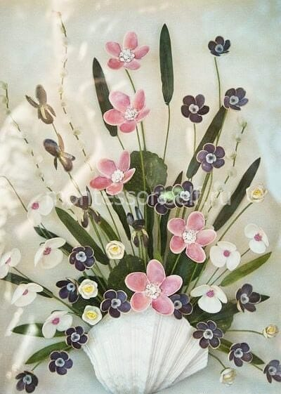 """Украшение из ракушек """"цветы"""""""