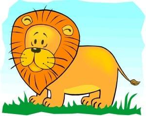 лев картинка для детей 1