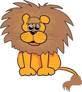лев картинка для детей 2