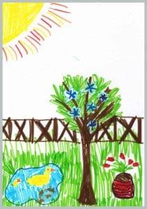 рисунок лето 9