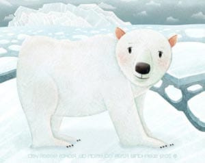 Белый медведь картинка для детей 3