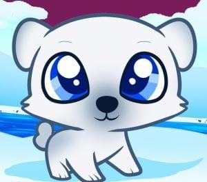 Белый медведь для девочек