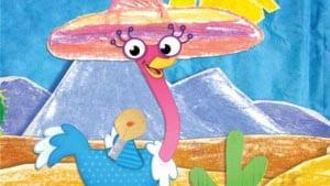 страус картинка для детей 5
