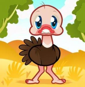 страус картинка для детей 7