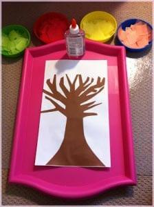 поделка осеннее дерево 1