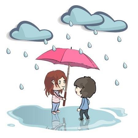 Рисунки детей идет дождь