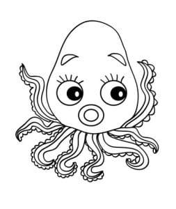 раскраска осьминог 1