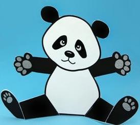 поделка панда