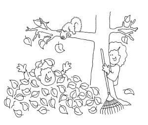 раскраска осень 10