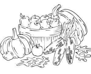 раскраска осень 12