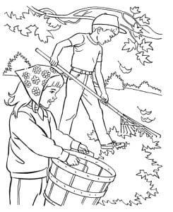 раскраска осень 8