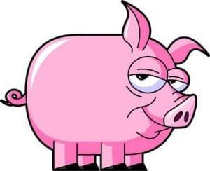 рисунок свинья 2