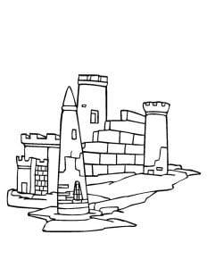 раскраска замок 1