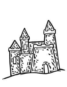 раскраска замок 3