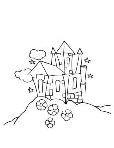 раскраска замок 5