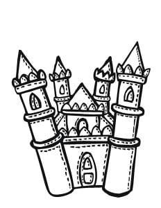 раскраска замок 8
