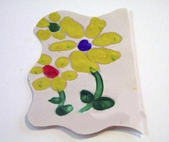 Поделка цветок из семян