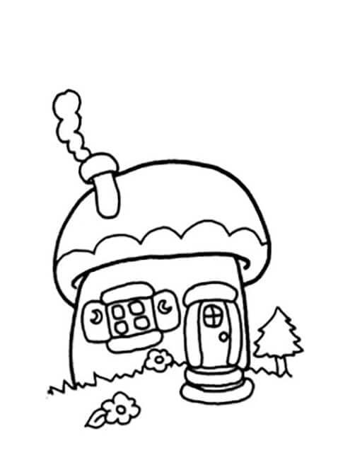 Раскраска пряничный домик