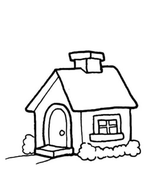 Раскраска маленький домик
