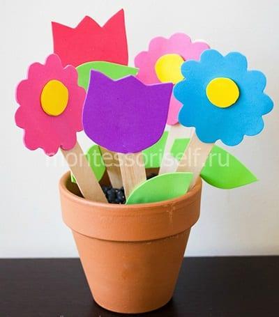 Цветы из фоамирана на День Матери