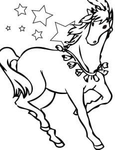 раскраска лошадь для девочек 1