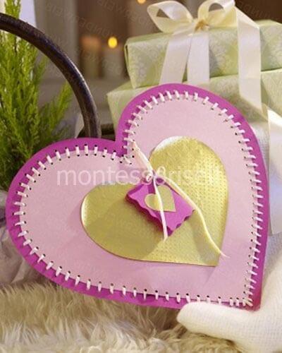 Открытка для мамы в виде сердца