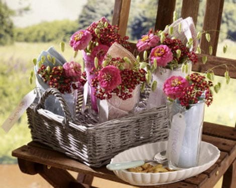 Сделать корзину для цветов своими руками