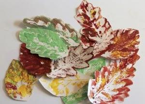 Осенние листья из бумаги 1