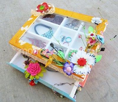 Коробочка для бижутерии на День Матери